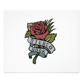 "Lovely Tattoo Flowers""Stereo Rock"" Red and Green Art Photo"