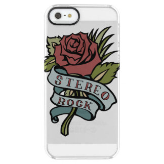 """Lovely Tattoo Flowers""""Stereo Rock"""" Red and Green Clear iPhone SE/5/5s Case"""