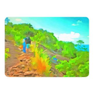 Lovely trek 13 cm x 18 cm invitation card