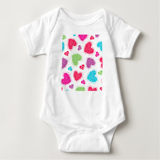 """Lovely Valentine's Day hearts and """"I love you""""text Baby Bodysuit"""