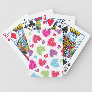 "Lovely Valentine's Day hearts and ""I love you""text Bicycle Playing Cards"