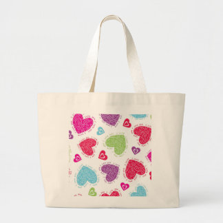 """Lovely Valentine's Day hearts and """"I love you""""text Large Tote Bag"""