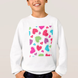 """Lovely Valentine's Day hearts and """"I love you""""text Sweatshirt"""