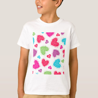 "Lovely Valentine's Day hearts and ""I love you""text T-Shirt"