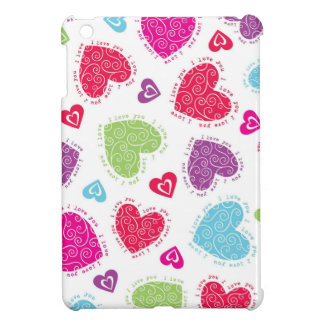 """Lovely Valentine's Day hearts and the """"I love you"""" iPad Mini Case"""