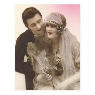 Lovely Vintage Antique Bride and Groom Cards, Gift Postcard