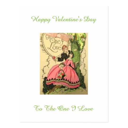 Lovely Vintage Art Deco Valentine Couple Postcard