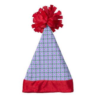 lovely vintage pattern blue santa hat