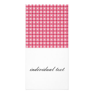 lovely vintage pattern pink personalized photo card