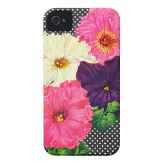 Lovely Vintage Petunias Case-Mate iPhone 4 Cases