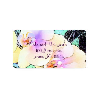 Lovely Violet and White Orchid Address Label