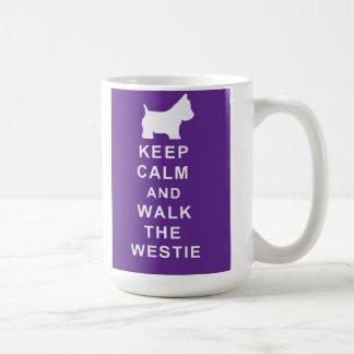 Lovely Westie Keep Calm Walk Westie Mug Birthday