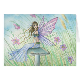 Lovely Whimsical Fairy Card by Molly Harrison