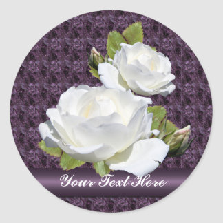 Lovely White Roses Stickers