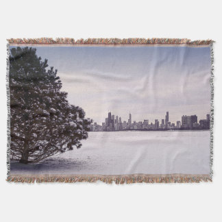 lovely winter Chicago - throw blanket