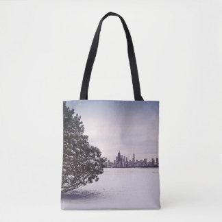 lovely winter Chicago - tote bags