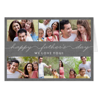 Lovely Writing Fathers Day Photo Card
