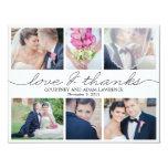 Lovely Writing Wedding Photo Thank You Card White Custom Invite