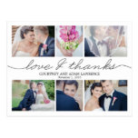 Lovely Writing Wedding Thank You Card - White Postcard