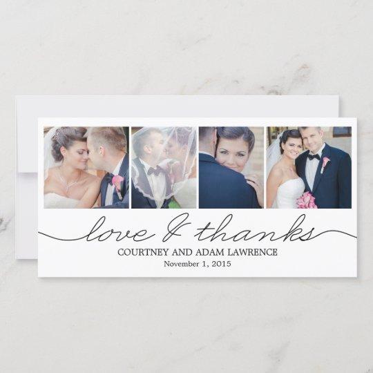 Lovely Writing Wedding Thank You Cards - White