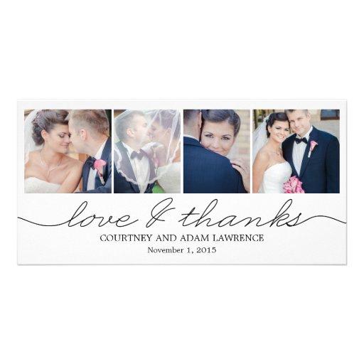 lovely writing wedding thank you cards white customized photo card