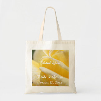 lovely yellow rose flower wedding favor thank you
