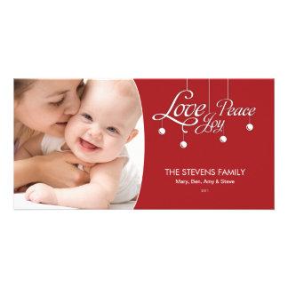 LovePeaceJoy Hanging Ornament Premium Photo Card