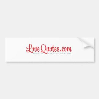 LoveQuotes.com Logo White Bumper Sticker