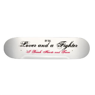 Lover and a Fighter Custom Skate Board