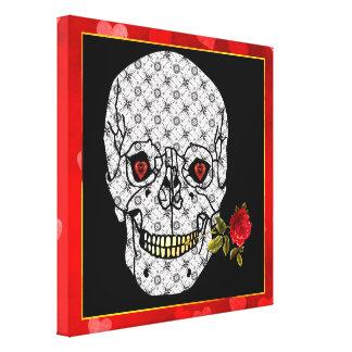 Lover Boy Skull Canvas Print