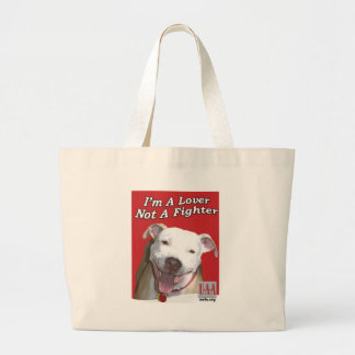 LOVER NOT A FIGHTER JUMBO TOTE BAG