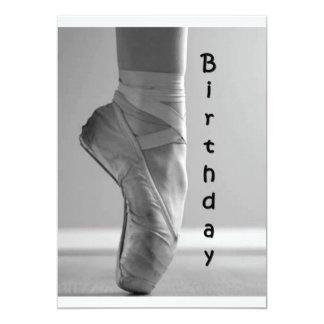 LOVER OF BALLET BIRTHDAY PARTY INVITATION