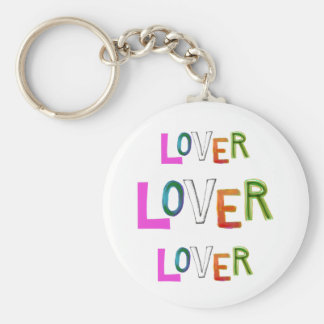Lover partner girlfriend boyfriend spouse word art basic round button key ring