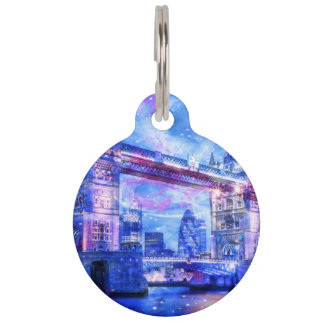 Lover's London Dreams Pet ID Tag