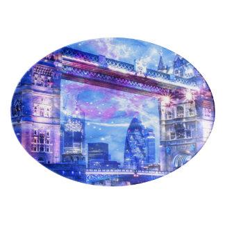 Lover's London Dreams Porcelain Serving Platter