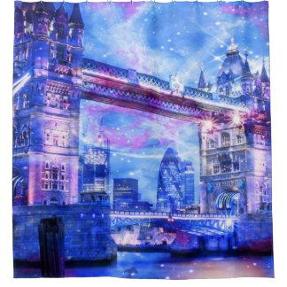 Lover's London Dreams Shower Curtain
