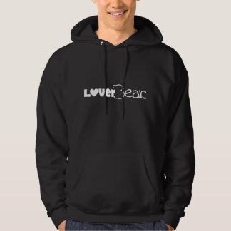 LoverBear logo, white on black Sweatshirt