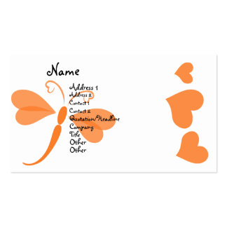 Loverly Dragonfly Pack Of Standard Business Cards