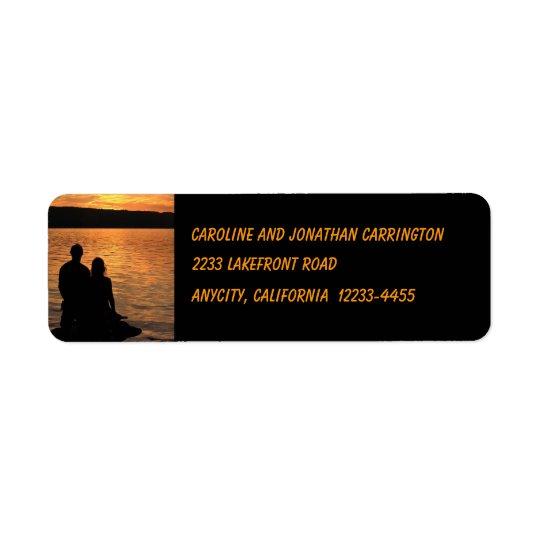 Lovers at Sunset Lake Return Address Return Address Label
