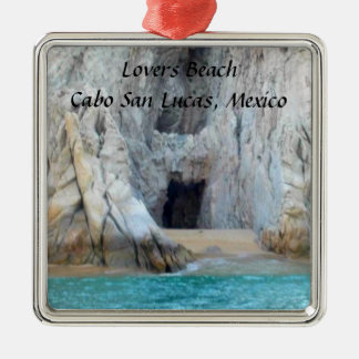 Lovers Beach Cabo San Lucas Mexico Silver-Colored Square Decoration