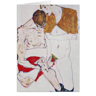 Lovers By Egon Schiele Card