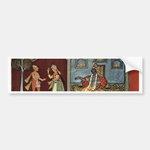 Lovers By Indischer Maler Um 1690 Bumper Stickers