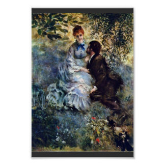 Lovers,  By Pierre-Auguste Renoir (Best Quality) Poster