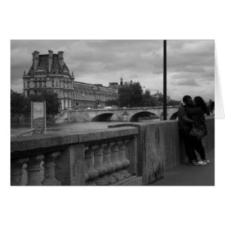 Lovers by the Seine, Paris, France Card