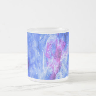 Lover's Dream Frosted Glass Coffee Mug