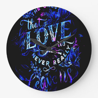 Lover's Dream of the Ones that Love Us Large Clock