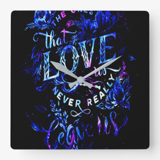 Lover's Dream of the Ones that Love Us Square Wall Clock
