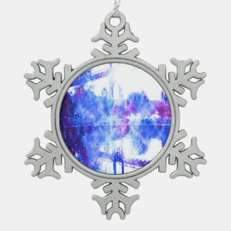 Lover's Dreams Bridge to Anywhere Snowflake Pewter Christmas Ornament