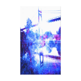 Lover's Dreams of a Bridge to Anywhere Canvas Print