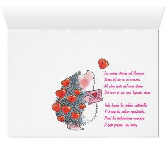 Lovers hedgehogs card